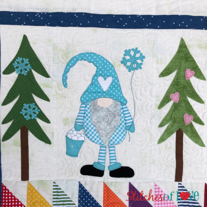 The Gnome Quilt Block One