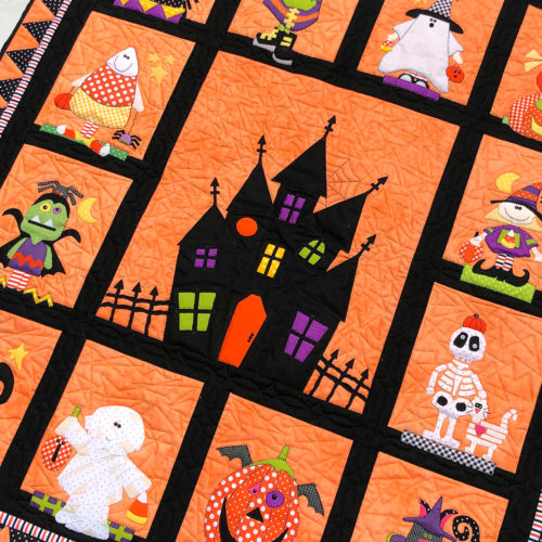 The Boo Crew Block of the Month from Stitches of Love Quilting and Amy Bruecken Designs